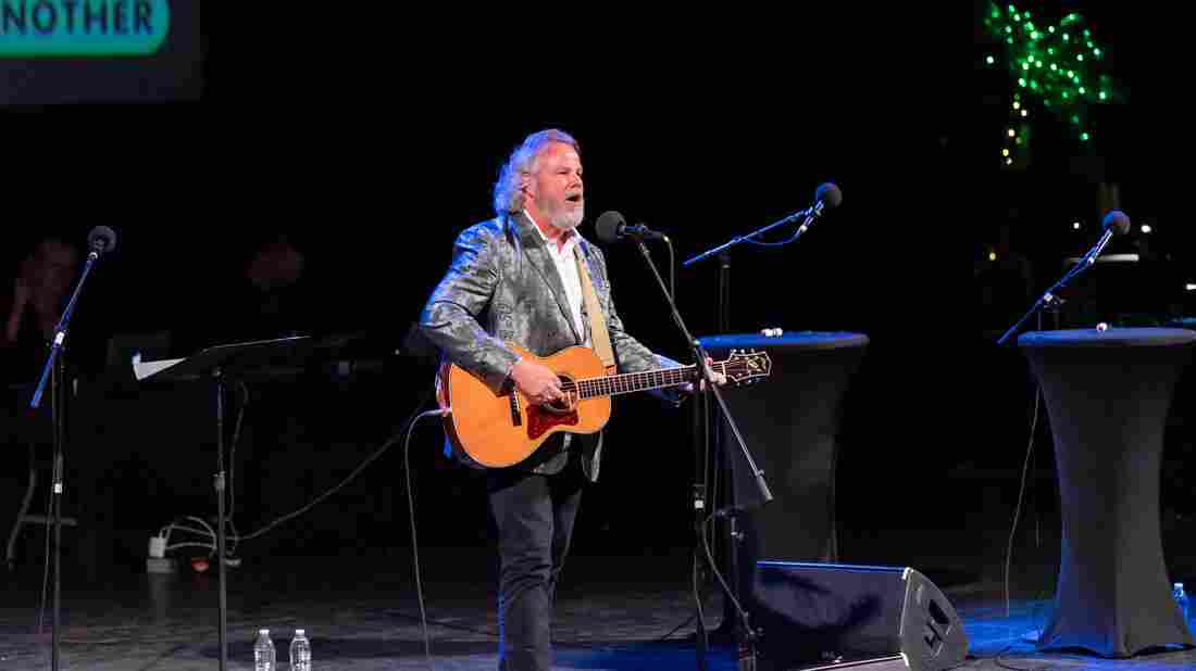 Robert Earl Keen performs on Ask Me Another at the Aztec Theatre in San Antonio, Texas.