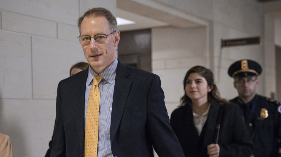 Mark Sandy, a career employee in the White House Office of Management and Budget, testified in the House impeachment inquiry on Nov. 16. (J. Scott Applewhite/AP)