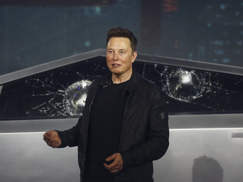 Cybertruck Elon Musk Unveils Tesla S Truck With A