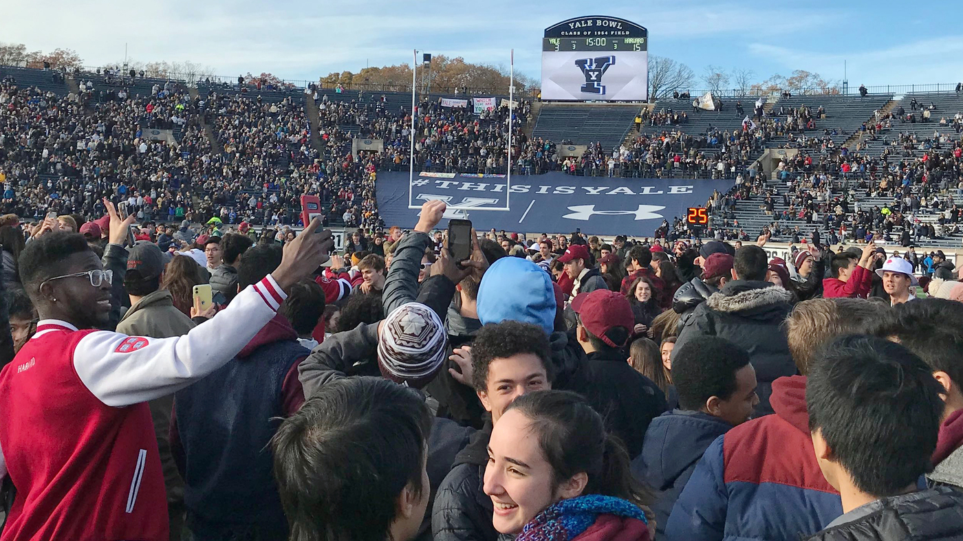 Activists Disrupt Harvard-Yale Rivalry Game To Protest Climate Change