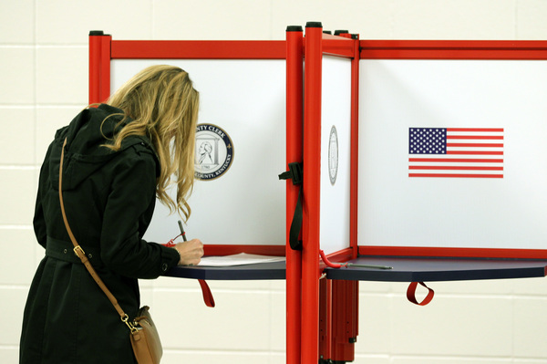 A voter casting a ballot in Louisville, Ky. this month. Long-serving election officials around the country are retiring ahead of the 2020 election, which could be among the most challenging to administer in the country's history.