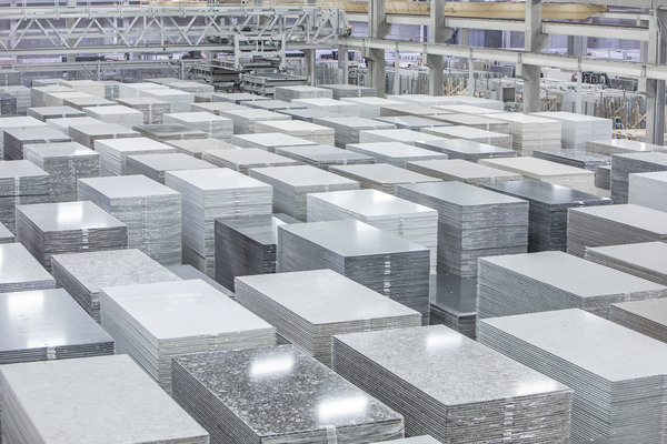 The Cambria factory in Minnesota manufactures slabs of engineered quartz for kitchen and bathroom countertops. If businesses don't follow worker protection rules, cutting these slabs to fit customers' kitchens can release lung-damaging silica dust.