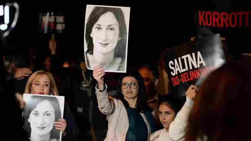 Rising Pressure Over Journalist's Killing Threatens To Topple Maltese Leadership