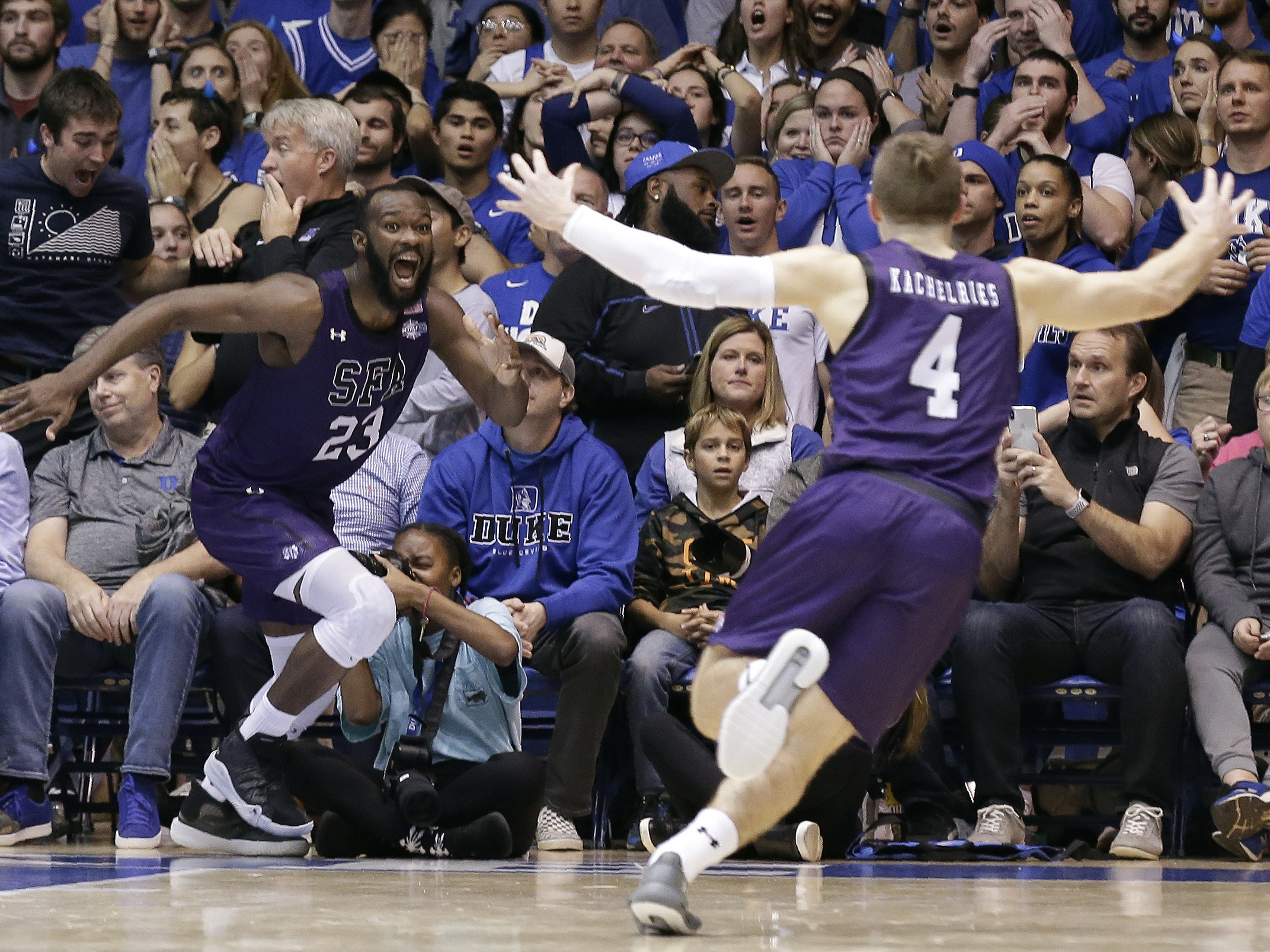 Powerhouse Duke Falls To Stephen F. Austin University With Buzzer-Beating Layup
