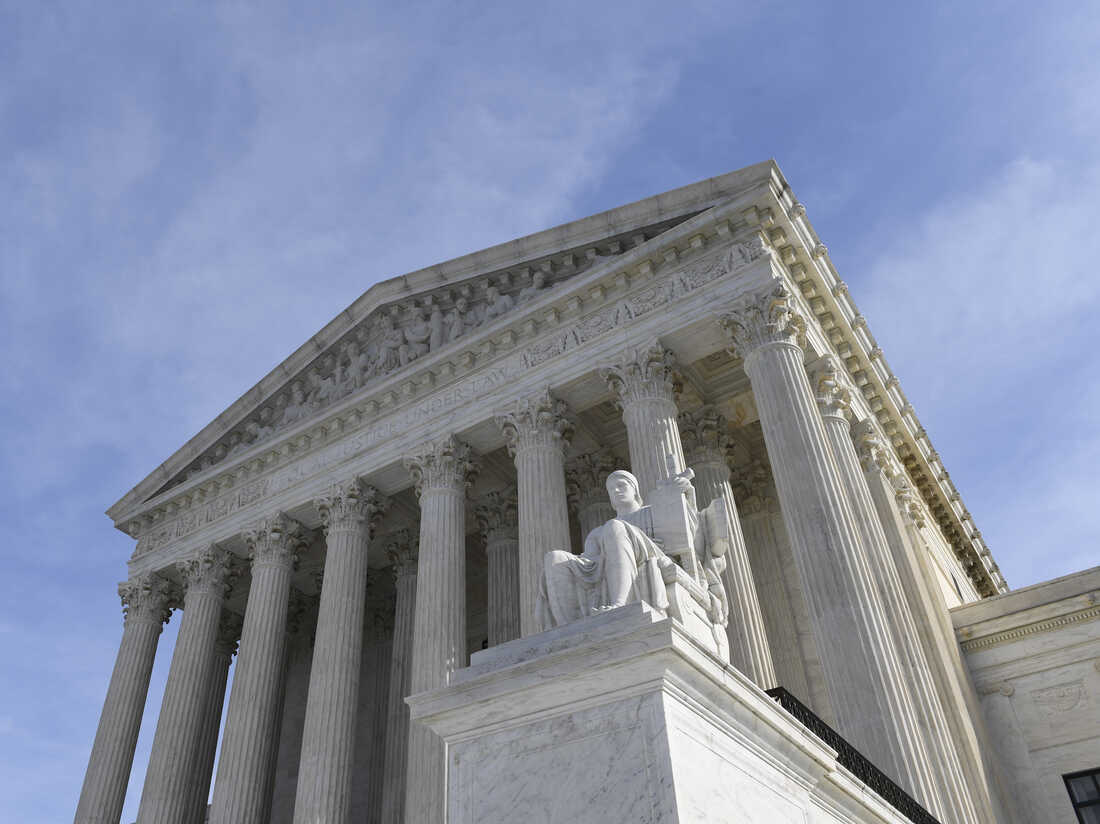 A view of the Supreme Court in Washington, D.C.