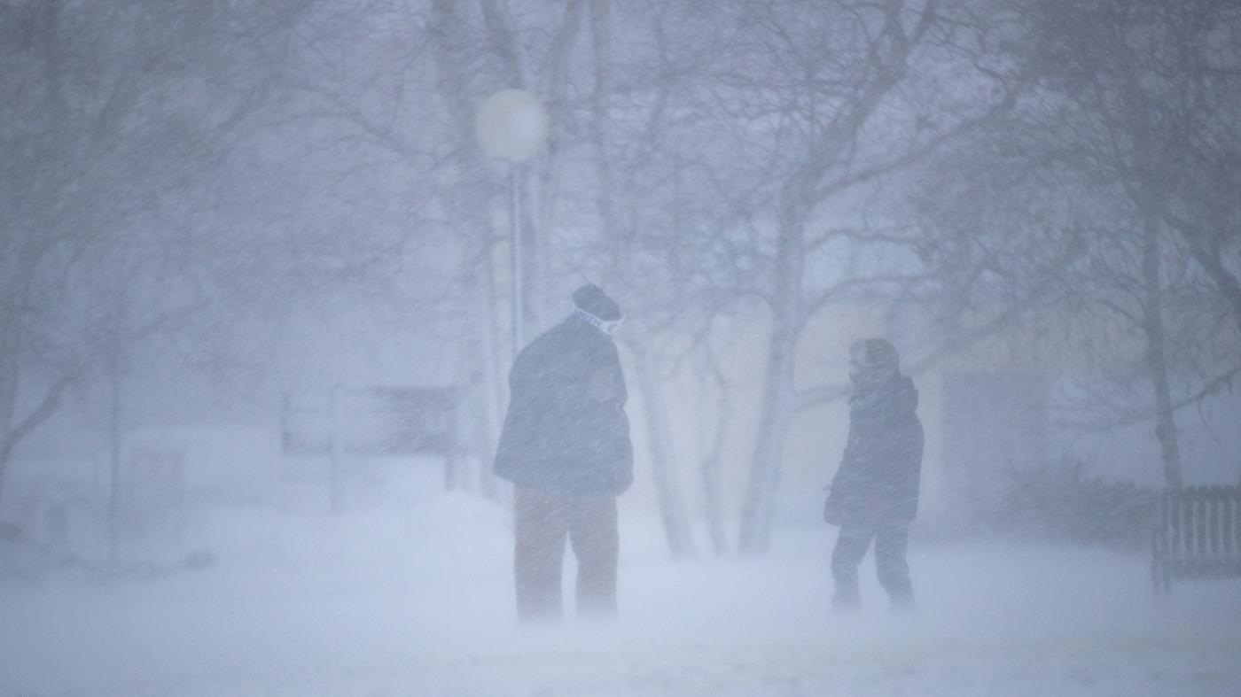 Winter Storm Moves East, Delays And Cancels Flights : NPR