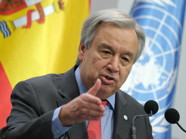 United Nations Secretary-General António Guterres at the opening day of the COP25 climate conference on Monday in Madrid.