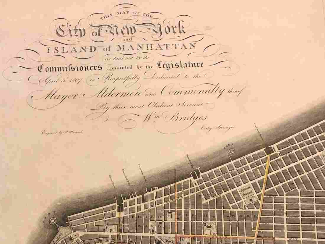 The New York City map of 1811.