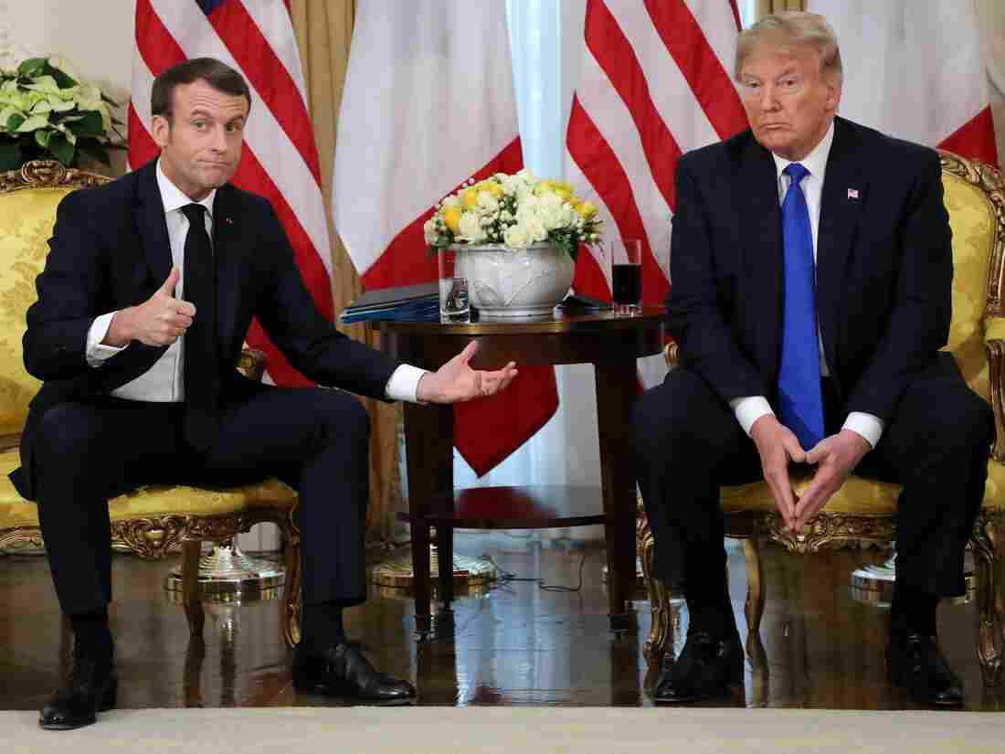 Westlake Legal Group gettyimages-1186267288-b9056f51b7a2d519c3b4f2f73603c0f2c96ff036-s1100-c15 From NATO Critic To Defender, Trump Calls Macron's Comments 'Nasty'