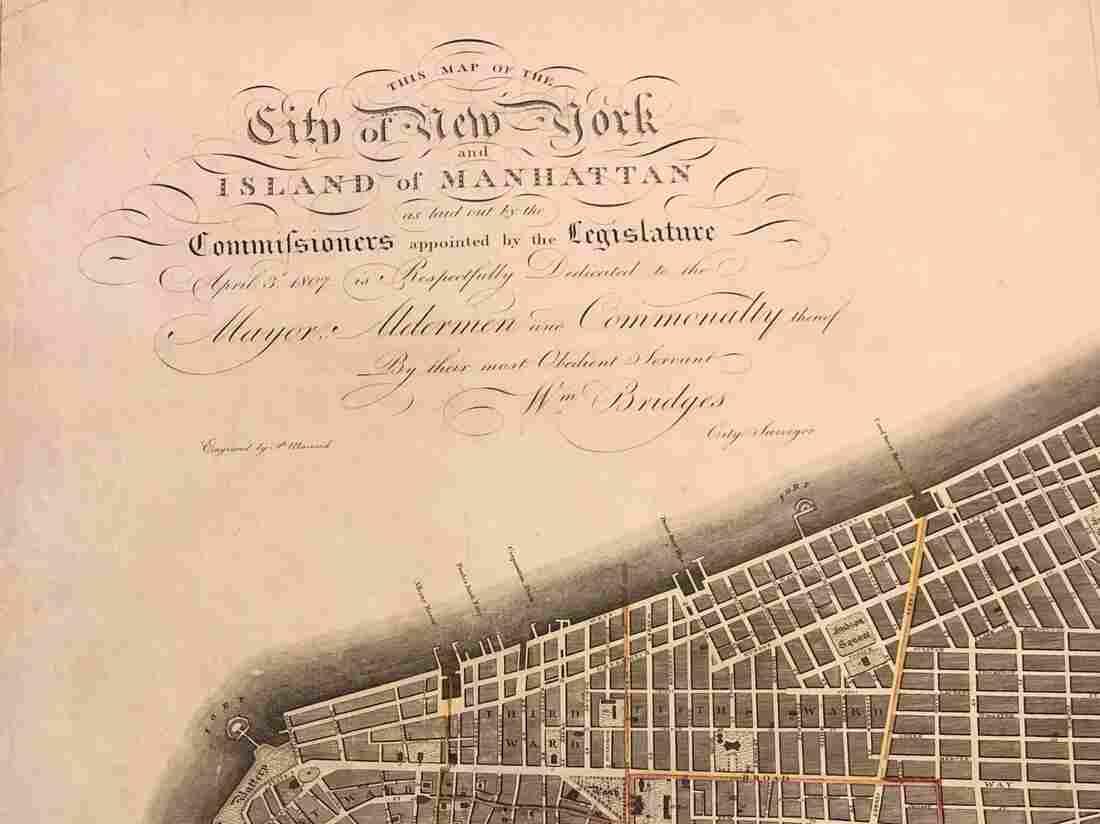 1811 map of Manhattan