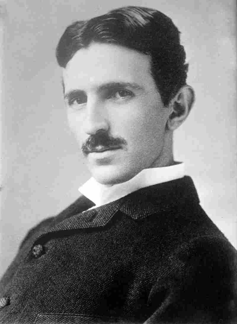 Inventor and engineer Nikola Tesla (1856 - 1943), 1890.