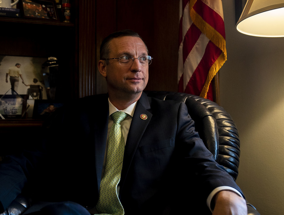 Rep. Doug Collins, R-Ga., ranking member on the House Judiciary Committee, in his office on Capitol Hill. (Mhari Shaw/NPR)
