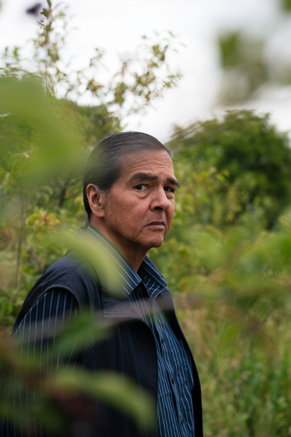 "George Horse Capture Jr. is a member of the Aaniiih Tribe. ""To me [buffalo] are a symbol of strength, endurance and the failure — the absolute failure — to go the way of the dodo bird,"" he says. ""They were teetering, but now they're back."""