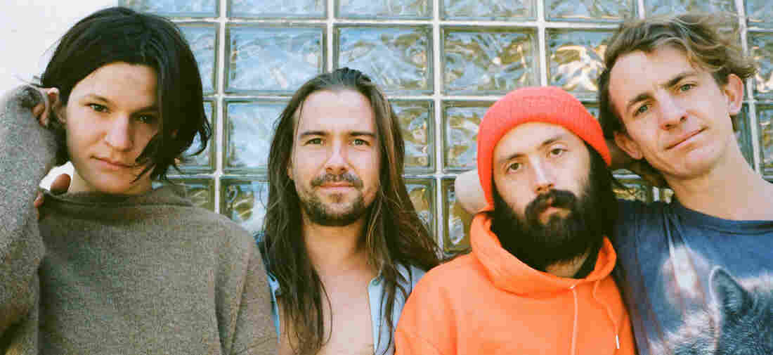 Big Thief, left to right: Adrianne Lenker, Max Oleartchik, James Krivchenia and Buck Meek.