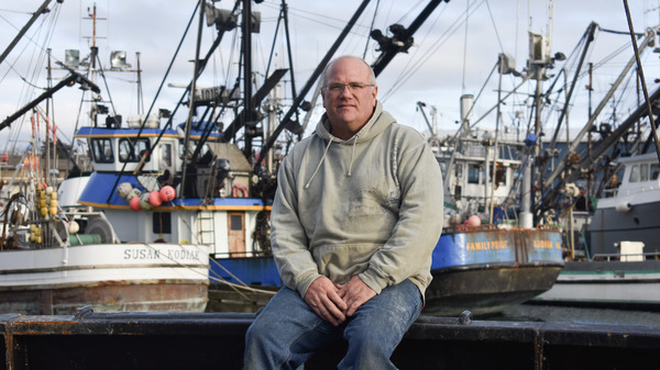 Cod fisherman Frank Miles on board his longline vessel, called the Sumner Strait, in Kodiak