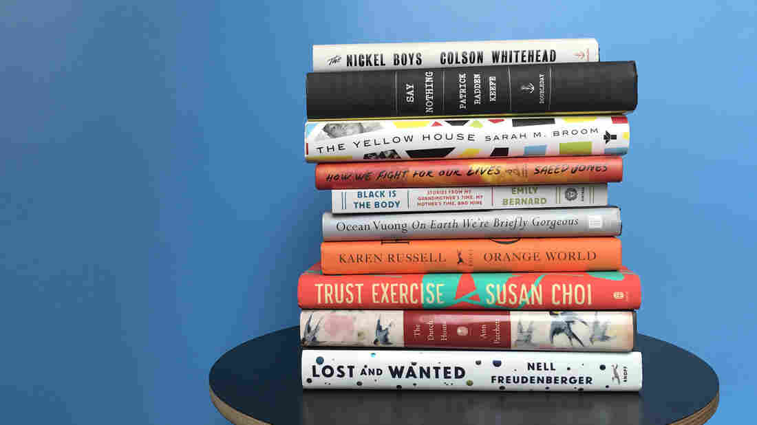 A stack of Maureen Corrigan's favorite books of 2019.