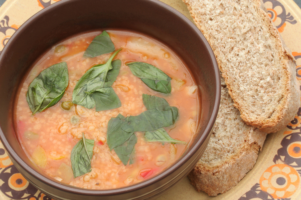 It could be that malaria-carrying parasites are rendered less potent by minestrone.