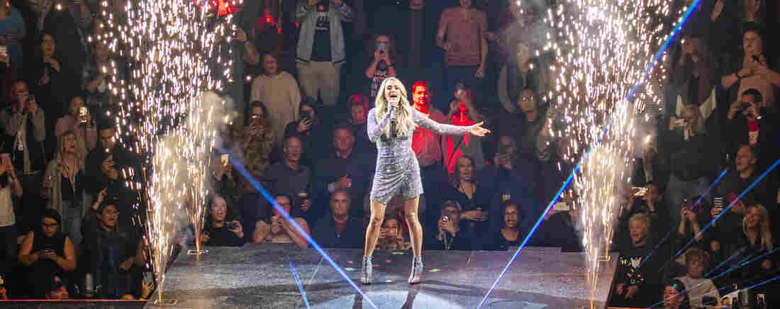 Carrie Underwood performs onstage during the Cry Pretty Tour 360 at Little Caesars Arena on October 31, 2019 in Detroit, Michigan.