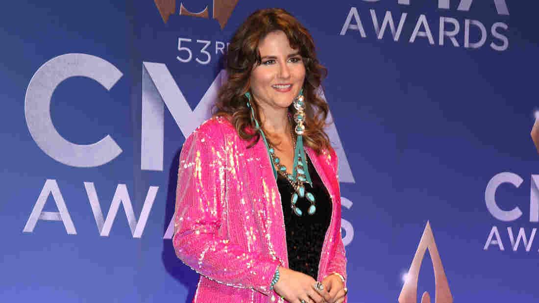 Jenee Fleenor speaks at the press room of the 53rd annual CMA Awards at the Bridgestone Arena on November 13, 2019 in Nashville, Tennessee.