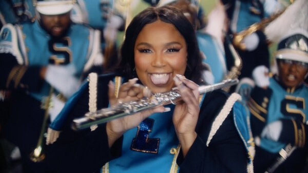 "Lizzo in the video for ""Good as Hell."""