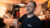 Paul Lubell used to vape medical marijuana to manage his chronic back and neck pain, instead of using opioid medications. Now, after getting hospitalized for lung sickness, he doesn't vape.