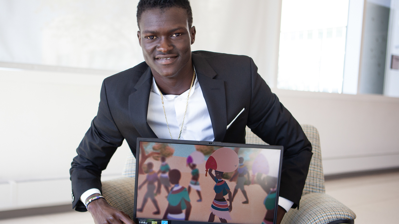 <b>An African kid in a refugee camp thought video games fell from heaven. Now he makes them</b>
