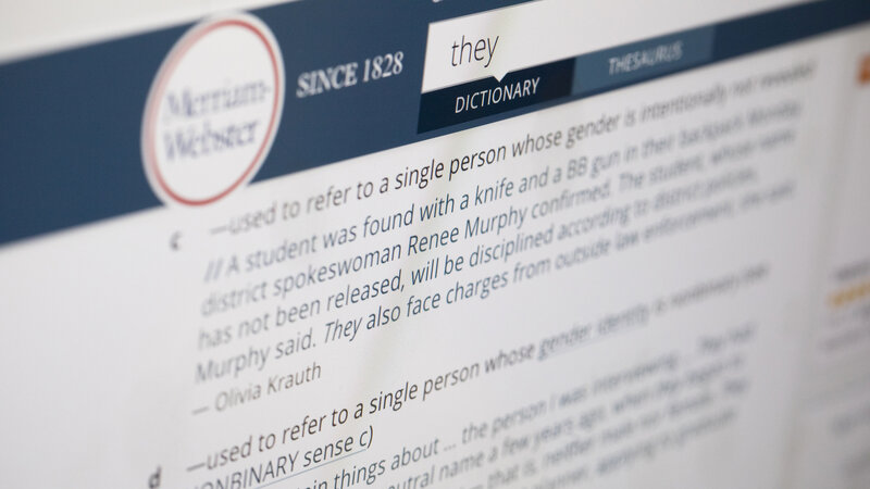 Merriam Webster S 2019 Word Of The Year Is The Singular