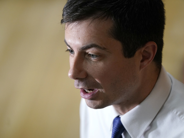 Democratic presidential candidate Pete Buttigieg at a campaign event earlier this week in Washington, Iowa.