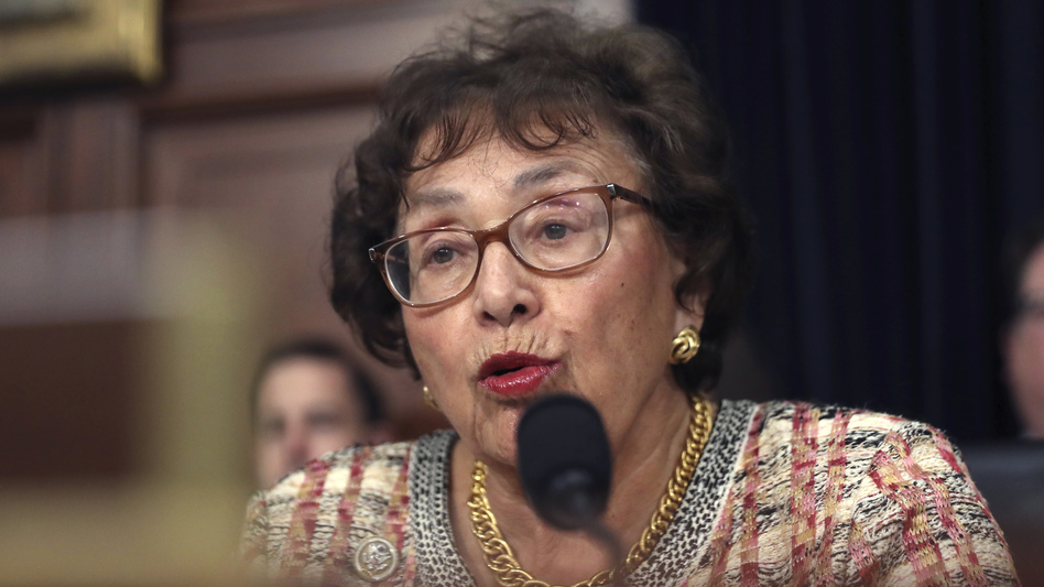 """Congressional negotiators have reached tentative agreement on a $1.3 trillion spending package to fund the government through the end of September 2020. """"I think we can be very proud of the good work that this Congress is doing,"""" Rep. Nita Lowey, seen here in April, said Thursday. (Andrew Harnik/AP)"""