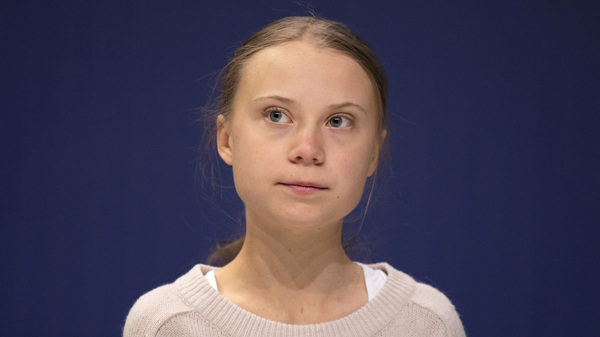 Swedish climate activist Greta Thunberg is seen Tuesday in Madrid at the U.N. climate conference.