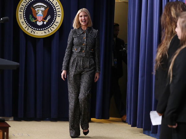 Ivanka Trump, who works at the White House as an adviser to her father, President Trump, said she has seen a shift in Republican attitudes on paid parental leave.
