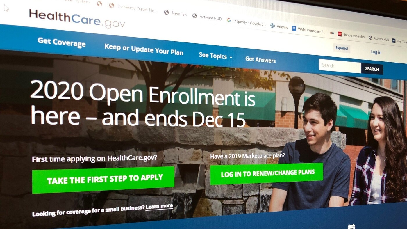 December 15 Deadline To Sign Up For 2020 Health Care Coverage : NPR