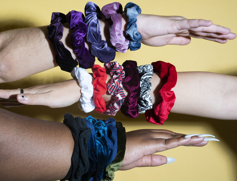 I Make My Scrunchies Fluffy Or Wider Flash Back to the 90/'s Free Shipping Football Season is Here Scrunchies Are Back