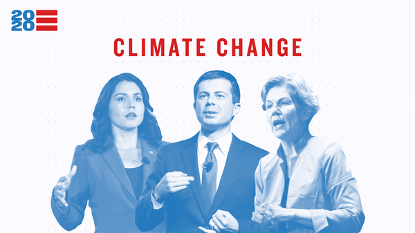 Issue Tracker: Climate Change — Tulsi Gabbard, Pete Buttigieg, Elizabeth Warren
