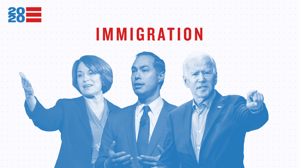 Issue Tracker — Immigration. Amy Klobuchar, Julian Castro, Joe Biden