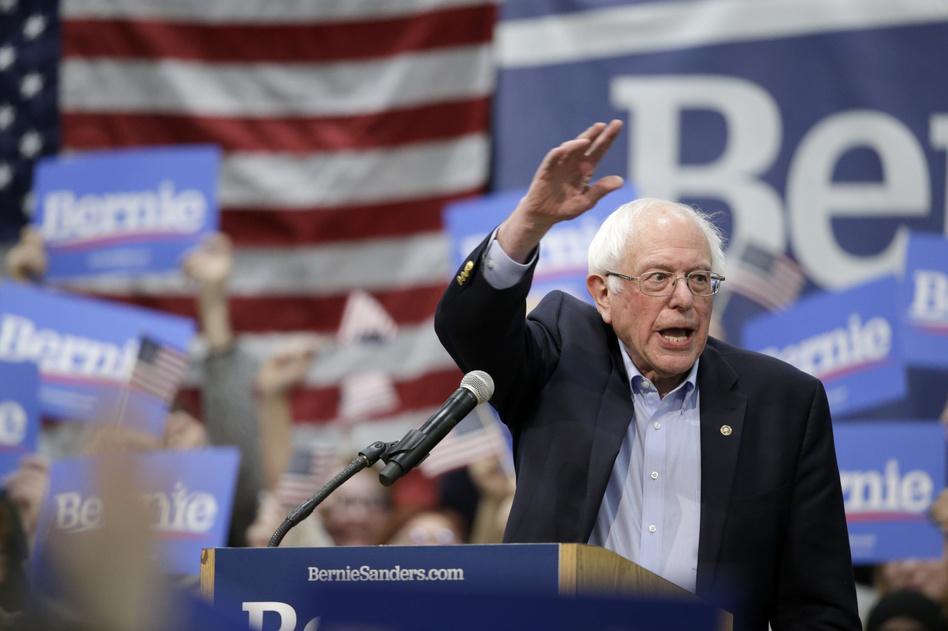 Sen. Bernie Sanders, I-Vt., speaks to supporters at an Iowa rally in March. (Nati Harnik/AP)