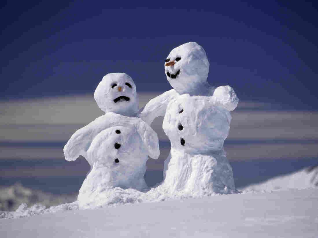 Two snowmen.