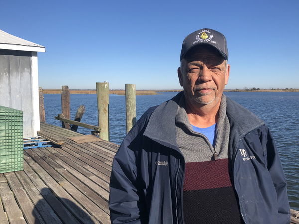 """Joseph """"Smokey"""" Parrish has worked at 13 Mile Seafood for 37 years. He oversees the wholesale shrimp operation and is also a Franklin County commissioner. He says nearly 5,000 jobs are at stake if the fisheries here collapse."""