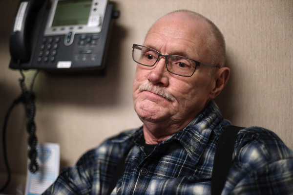 """Michael Kruchten, 62, a patient of Dr. Angela Gatzke-Plamann, takes prescription opioids for chronic pain. """"Dr. Gatzke has been a big plus and incentive for me ... She's one of the main factors why I'm still here. She pulled me through it,"""" he says."""