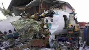 Kazakh Flight Crashes, Killing At Least 12 And Injuring 54