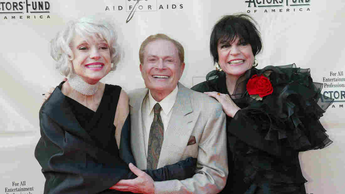 Jerry Herman with Carol Channing (left) and Jo Anne Worley in 2002.