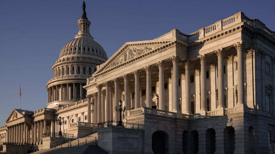 The Senate side of the Capitol is seen on the morning after the House of Representatives voted to impeach President Trump for abuse of power and obstruction of Congress on Dec. 19, 2019. (J. Scott Applewhite/AP)