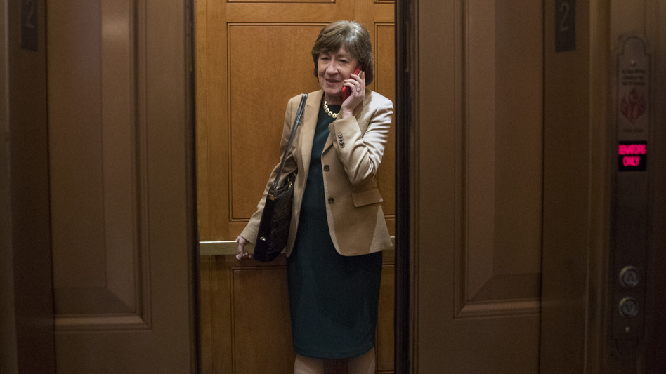Sen. Susan Collins is facing a difficult reelection in Maine — a state deeply divided over President Trump. (Andrew Harnik/AP)