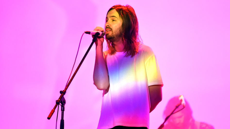 Kevin Parker of Tame Impala performs at Coachella in 2019. The band's latest album, <em>The Slow Rush</em>, is due out in February. (Kevin Winter/Getty Images)