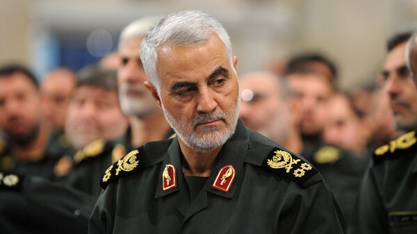 Iranian Quds Force commander Gen. Qassim Soleimani, seen in September, was reported killed Friday in a strike on the international airport in Baghdad, Iraq.