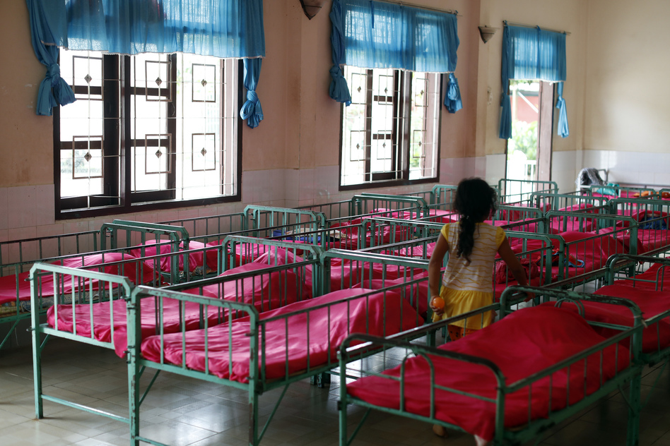 The dormitory in an orphanage in Vietnam. (Godong/Universal Images Group via Getty)