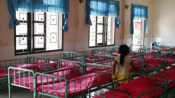 The dormitory in an orphanage in Vietnam.