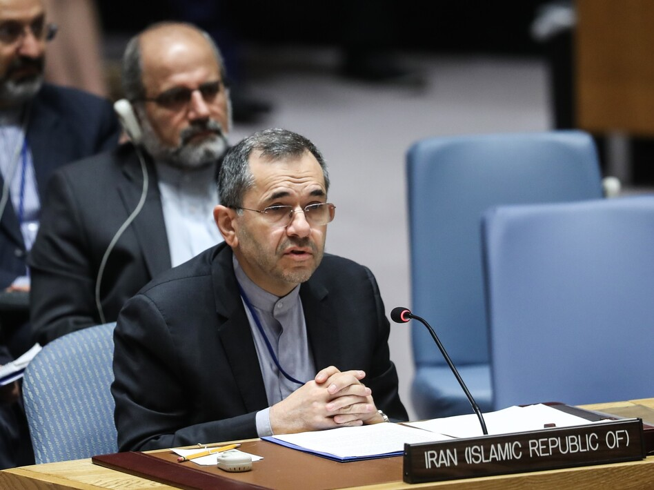 Iran's Ambassador to the United Nations Majid Takht Ravanchi delivers a speech in June during a U.N. Security Council meeting. (Atilgan Ozdil/Anadolu Agency/Getty Images)