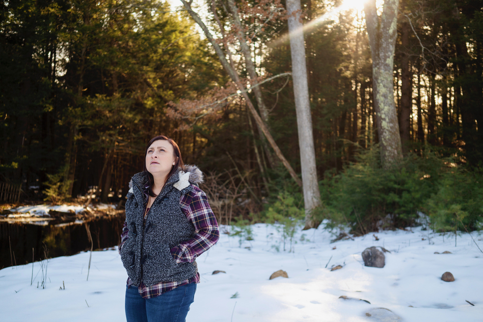 Jennifer Ford of Oakham, Mass., went through serious postpartum depression after her second pregnancy. She got help from her obstetrician after he connected with a statewide program that supports doctors. (Kieran Kesner for NPR)