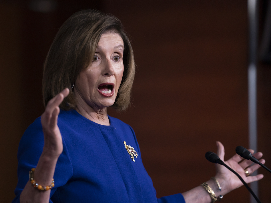 House Speaker Nancy Pelosi, D-Calif., is ending her weeks-long hold on the articles of impeachment, which will trigger the start of the Senate impeachment process. (J. Scott Applewhite/AP)